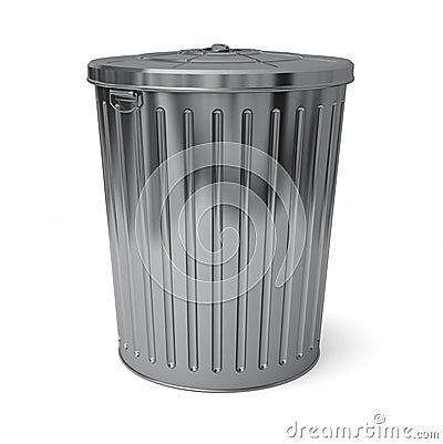 Het deksel van de vuilnisbak