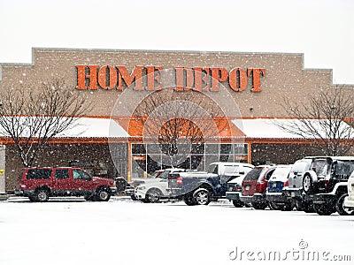 Het Depot van het huis Redactionele Stock Foto
