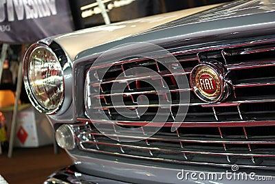 Het detail van Fiat van Oldtimer Redactionele Fotografie