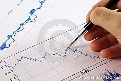 Het diagram van financiën