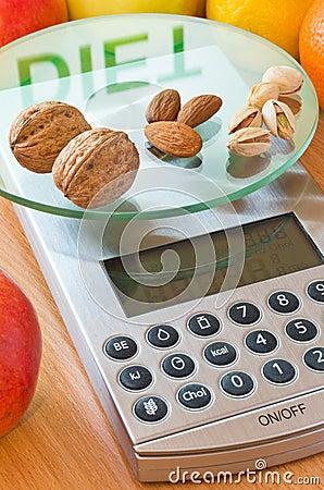 Het dieet van noten en van amandelen