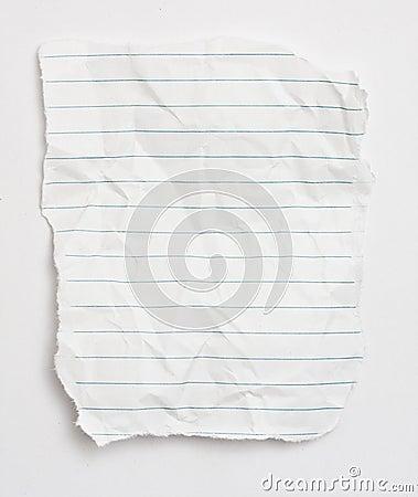 Het document van het schroot
