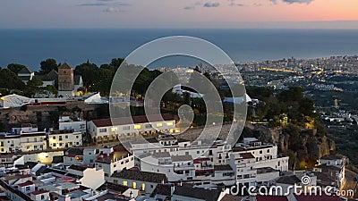 Het dorp Mijas in Andalusië met witte huizen, Spanje stock video