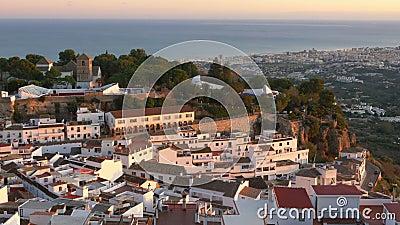 Het dorp Mijas in Andalusië met witte huizen, Spanje stock videobeelden