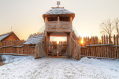 Het dorp van Faktoria in Pruszcz Gdanski