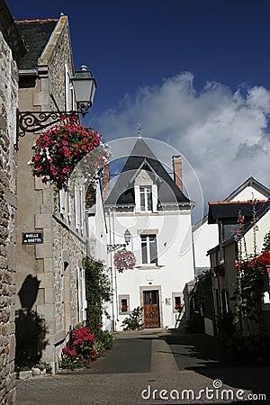 Het dorpsstraat van Bretagne
