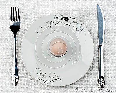 Het ei van het ontbijt
