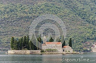 Het eiland van heilige George, Montenegro