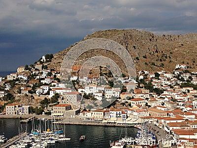 Het eiland van hydra griekenland stock foto afbeelding 56909983 - Centrale eiland prijzen ...
