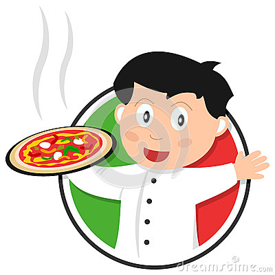 Het Embleem van de Chef-kok van de pizza