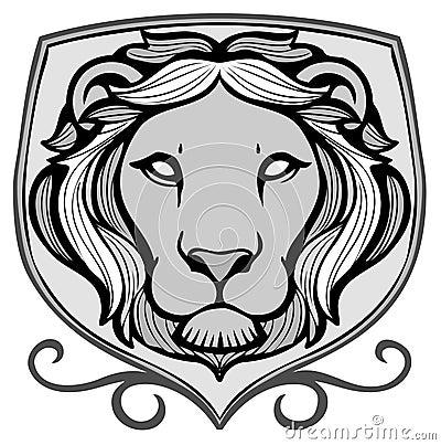 Het embleem van de leeuw