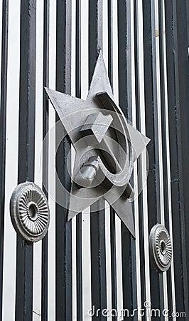 Het embleem van het metaal
