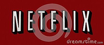 Het embleem van Netflix Redactionele Stock Foto