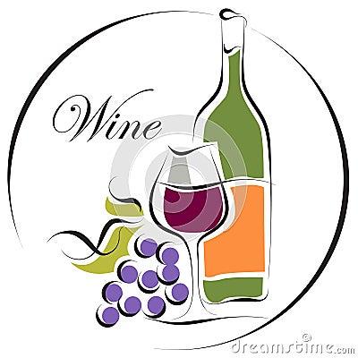 Het embleemontwerp van de wijn