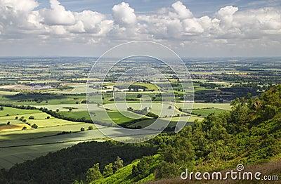 Het Engelse Uitzicht van het Platteland