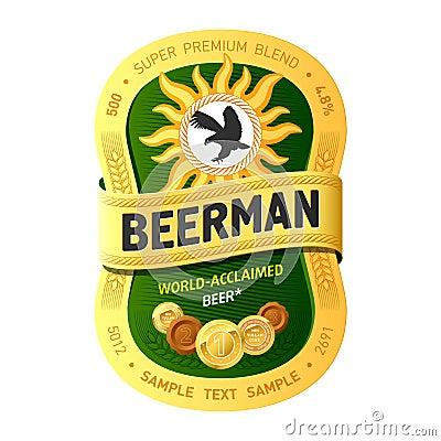 Het etiketontwerp van het bier