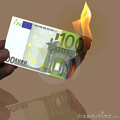 Het euro branden 100
