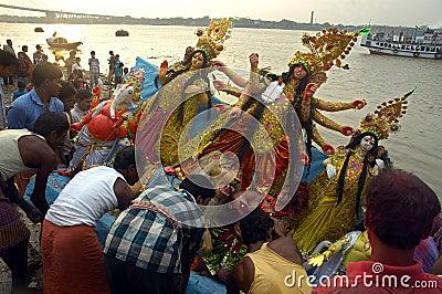 Het Festival van idool-Durga van de Klei van India Redactionele Fotografie