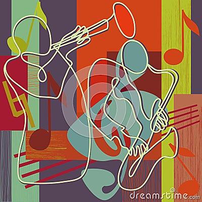 Het festivalillustratie van de jazz