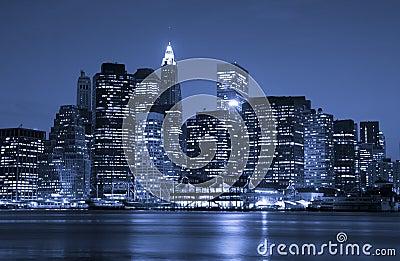 Het financiële district van de Stad van New York