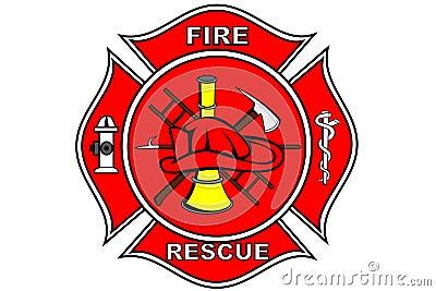 Het flard van de brandbestrijder