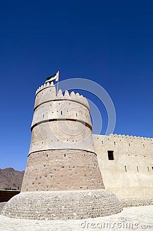 Het Fort van Bithnah in Fujairah Verenigde Arabische Emiraten