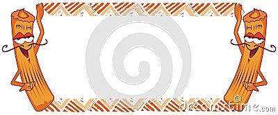 Het frame van Churro, Spaanse doughnut