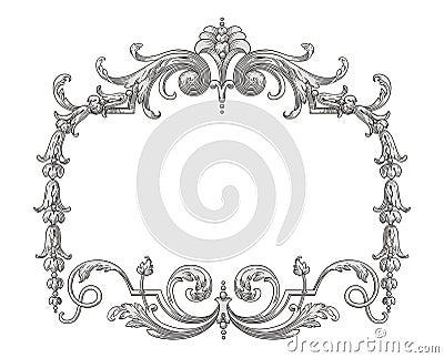 Het frame van de decoratie