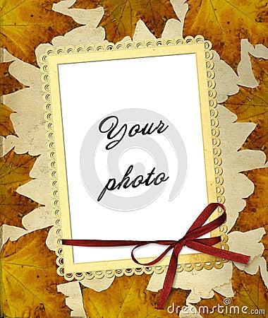 Het frame van de herfst