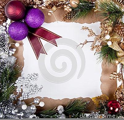 Het frame van de kerstkaart