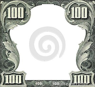 Het frame van dollars