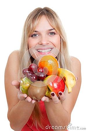 Het fruitdieet van de vrouw