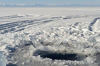Het gat van het ijs