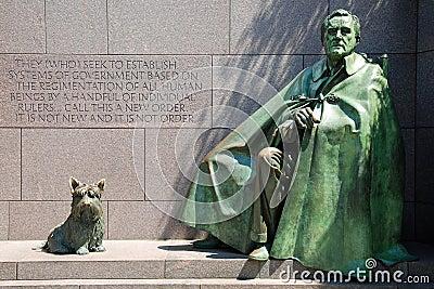 Het Gedenkteken van Delano Roosevelt van Franklin in Washington D