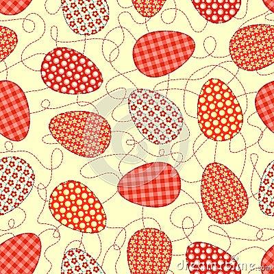 Het gele naadloze patroon van Pasen.