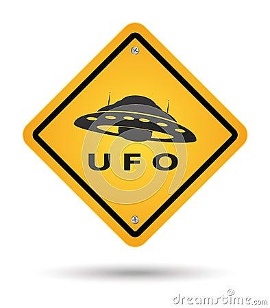 Het gele teken van Ufo