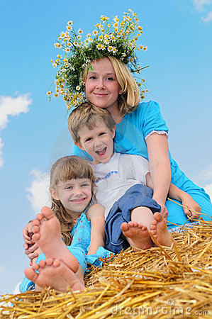 Het gelukkige kinderjaren en parenting