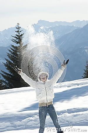 Het genieten van de van winter