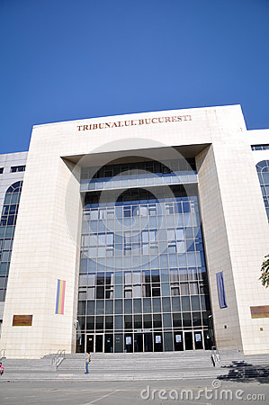 Het gerechtsgebouw van Boekarest Redactionele Foto