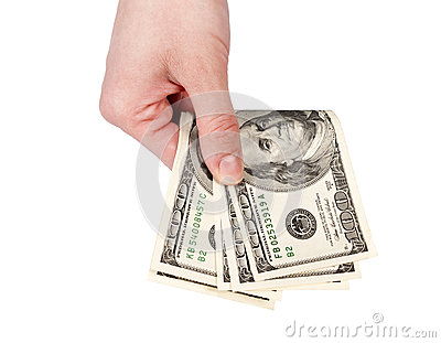 Het geven van het geld