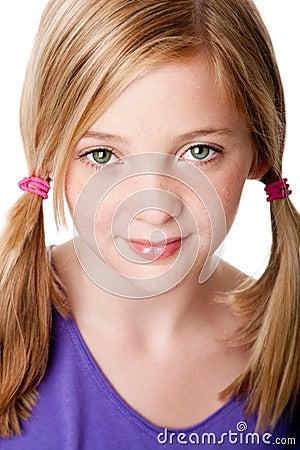 Het gezicht van de schoonheid van tienermeisje