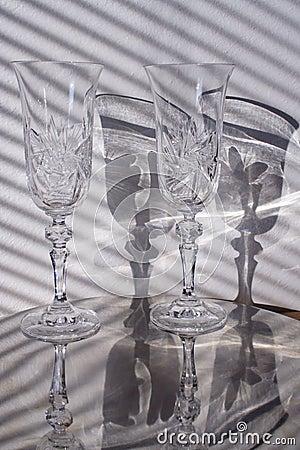 Grondglas met schaduw