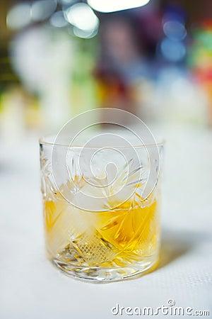 Het glas van de whisky