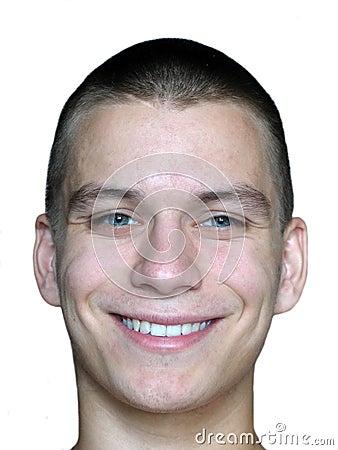 Het glimlachen man gezicht