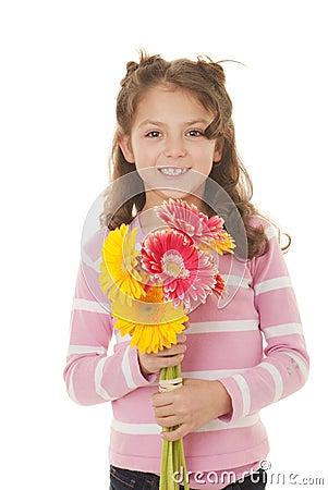 De gift van het jonge geitje van bloemen