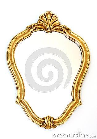 Het gouden frame van de spiegel stock foto 39 s afbeelding 18865723 - Meubilair van de ingang spiegel ...