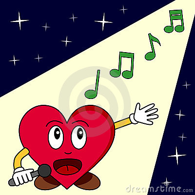 Het grappige Zingen van het Hart van het Beeldverhaal