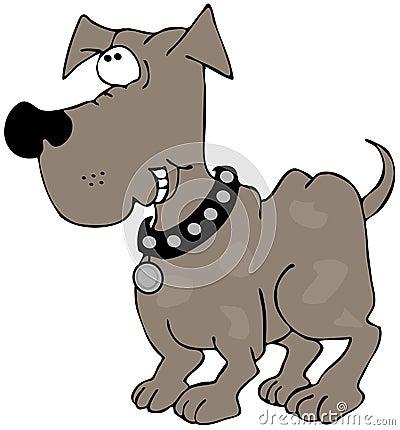 Het grijnzen hond