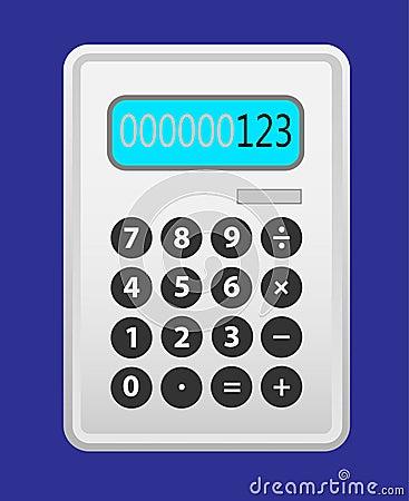 Het grijs van de calculator.