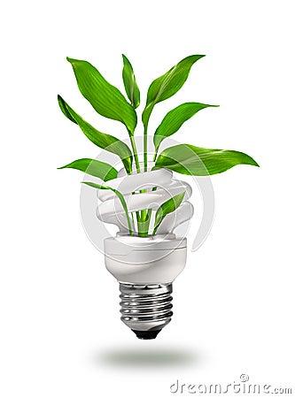 Het groene concept van de ecoenergie
